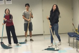 Mopping up the floor